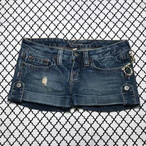 Bebe Cuffed Distressed Denim Jean Shorts <3